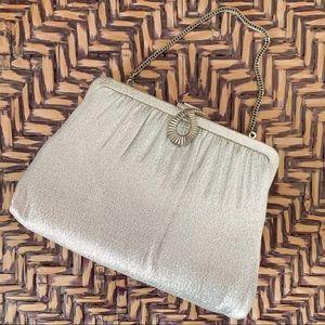 Vintage Silver Lame Handbag